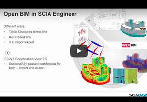 Open BIM in SCIA Engineer - BIM toolbox - Praktische demonstratie